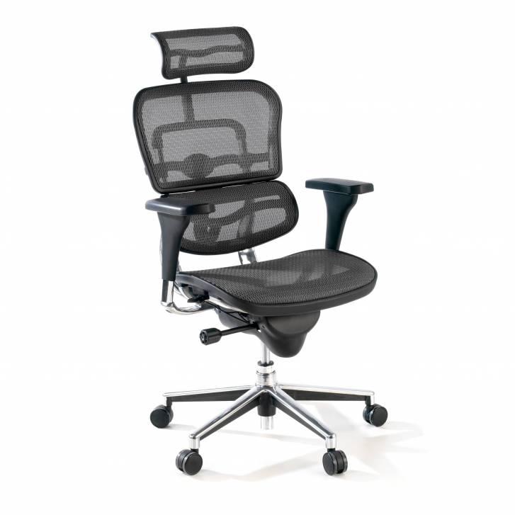 Keystone Chair With Headrest Black