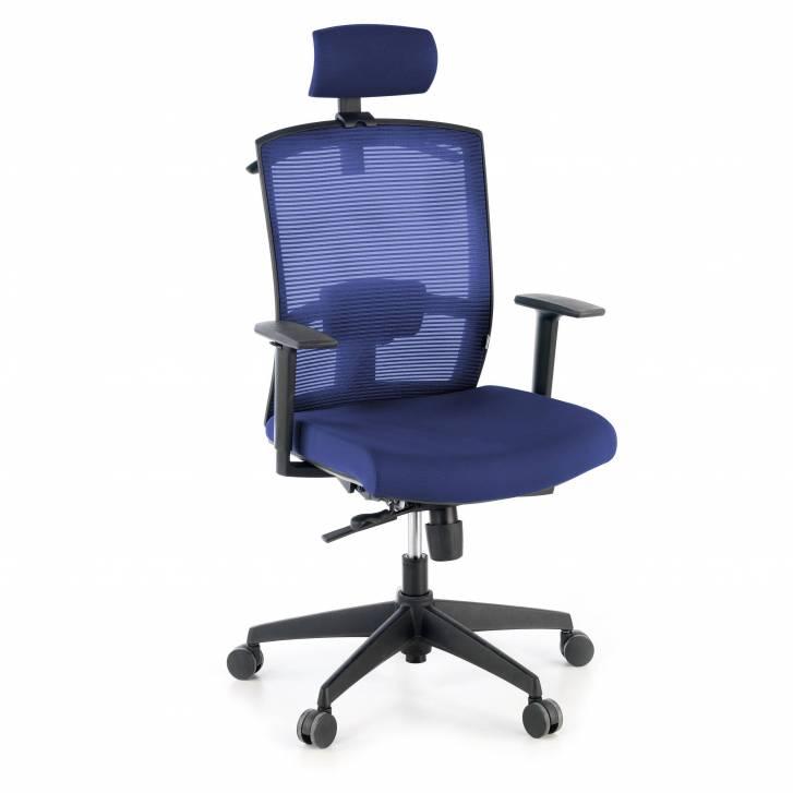 Kendo-Stuhl mit Kopfstütze, blau