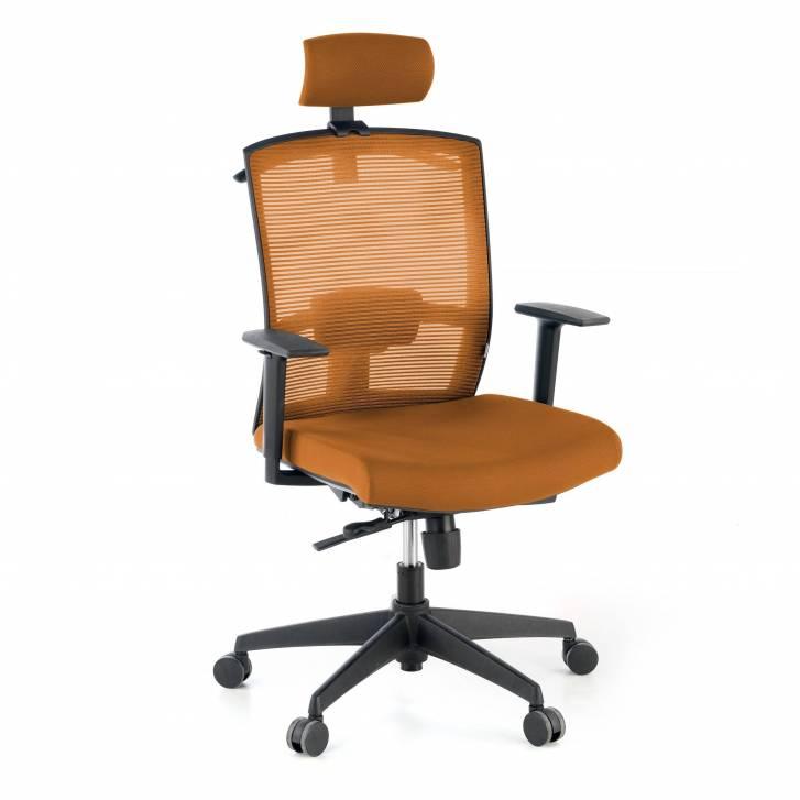 Kendo-Stuhl mit Kopfstütze, orange