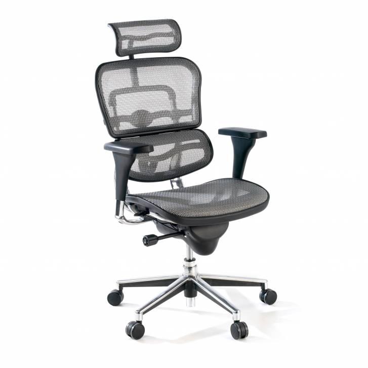 Keystone Chair With Headrest Grey