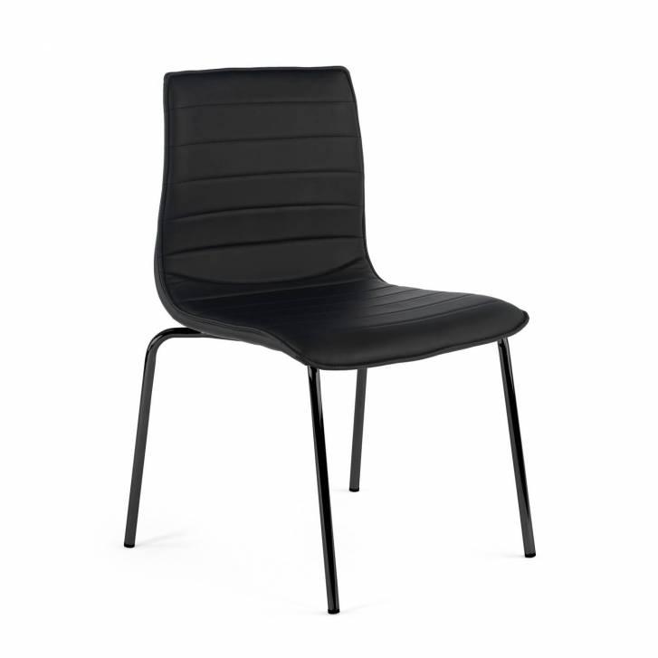 Cube Stuhl 4 Beine schwarz, schwarz