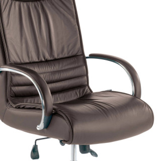 Oxford Armchair Leather Brown