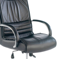 Oxford Sessel, Leder, schwarz