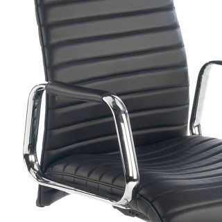 Jaguar Armchair Leather Black