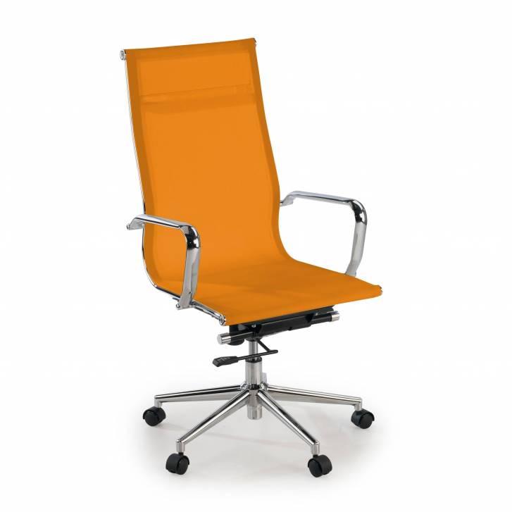 Slim Sessel, hoch, Netzgewebe, orange
