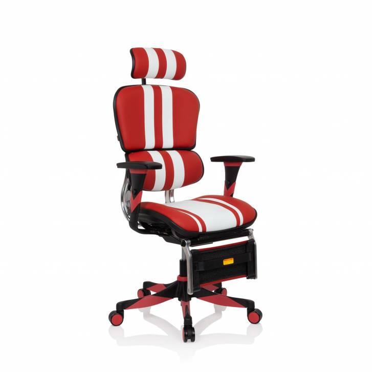 Silla Ergoplus gaming rojo