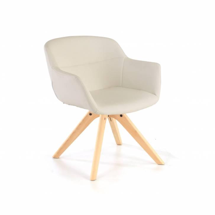 Silla Anne patas de madera blanco