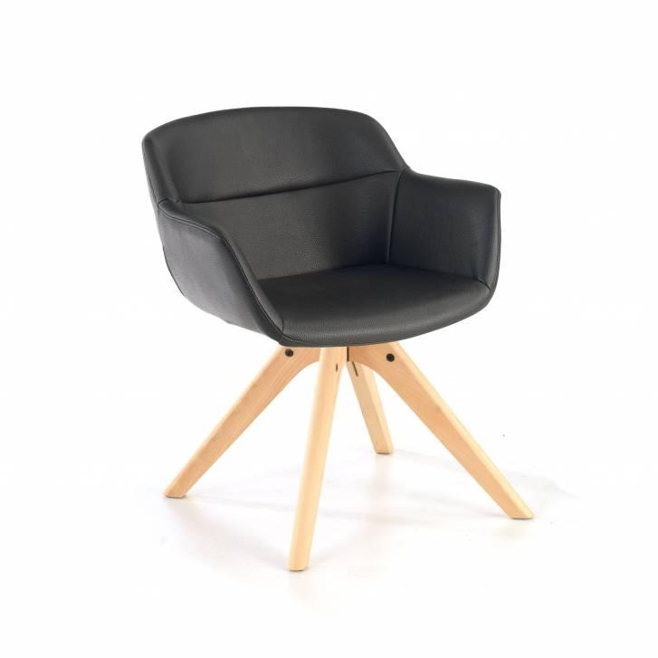 Silla Anne patas de madera negro