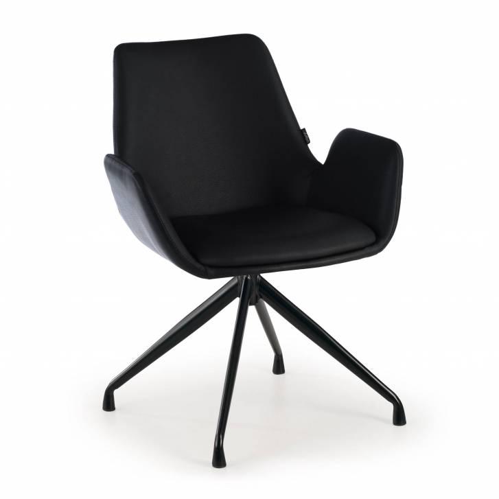 Elodie sessel schwenken Polster Seat ecoleder schwarz