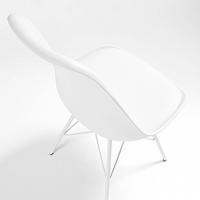 Nordic Stuhl Metall weiß