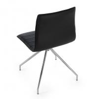 Cube Chair Swivel Chrome Black